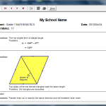 School Worksheets Memorandum