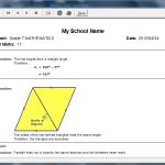 School Worksheets Memorandum